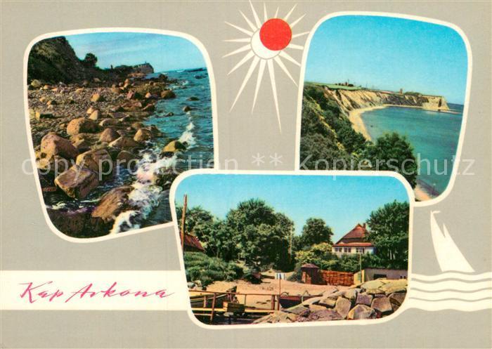 AK / Ansichtskarte Kap Arkona Steiniges Ufer Blick zum Kap Idyllisches Vitt