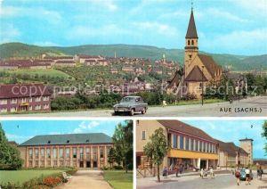 AK / Ansichtskarte Aue Erzgebirge Kulturhaus Ernst Thaelmann Kulturhaus und Oberstufe Kat. Aue