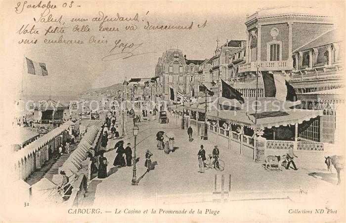 AK / Ansichtskarte Cabourg Casino Promenade de la plage Kat. Cabourg