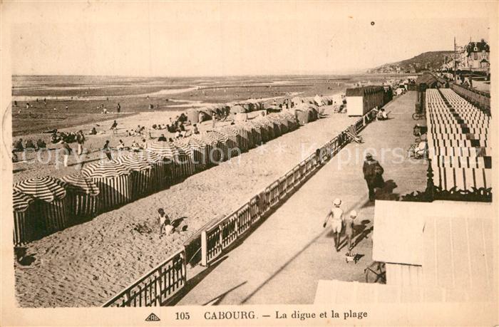AK / Ansichtskarte Cabourg La digue et la plage Kat. Cabourg