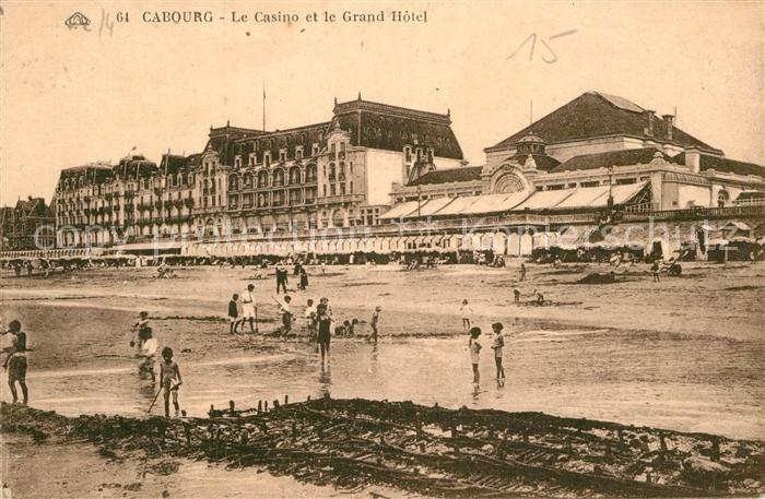 AK / Ansichtskarte Cabourg Casino Grand Hotel Plage Kat. Cabourg