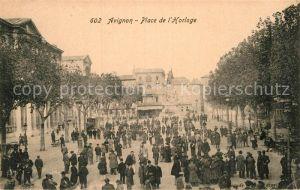 AK / Ansichtskarte Avignon Vaucluse Place de L Horloge Kat. Avignon