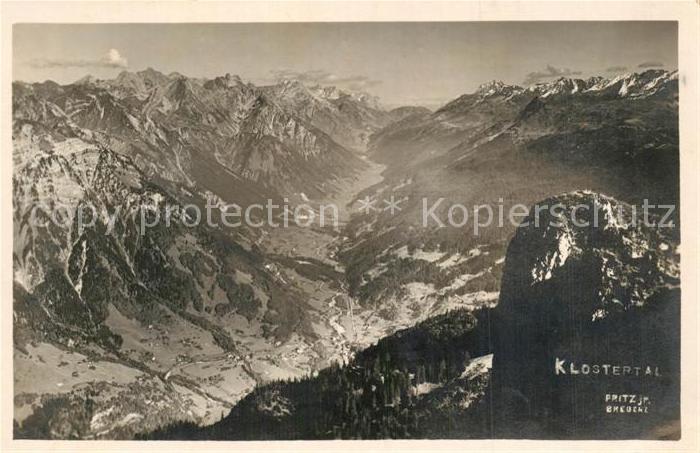 AK / Ansichtskarte Klostertaler Spitze Panorama  Kat. Klostertaler Spitze