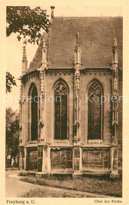 AK / Ansichtskarte Freyburg Unstrut Chor der Kirche Kat. Freyburg Unstrut