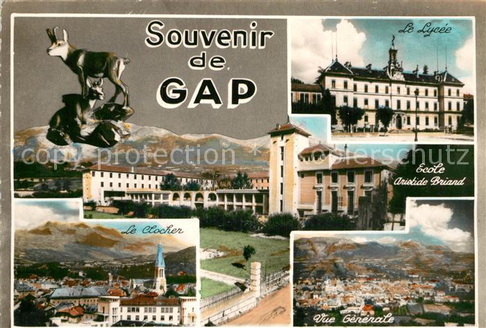 AK / Ansichtskarte Gap Hautes Alpes Le Clocher Le Lycee Ecole Aristide Briand Kat. Gap