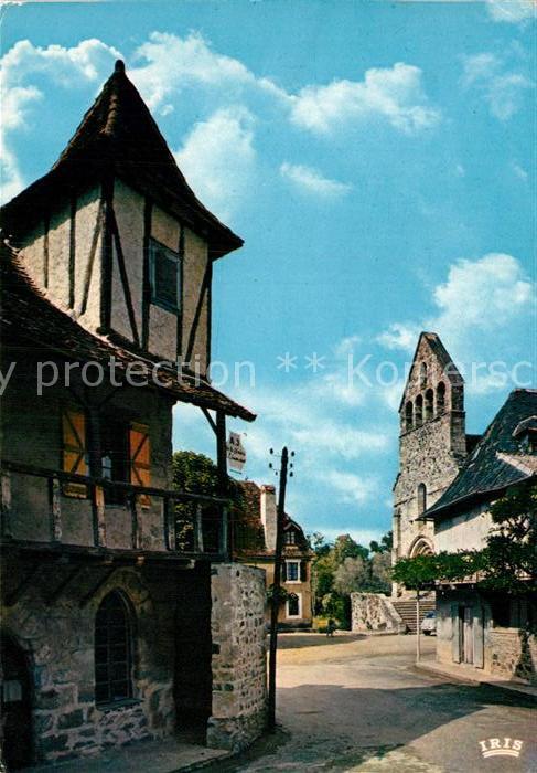 AK / Ansichtskarte Beaulieu sur Dordogne Vieille maion a galerie et chapelle ds Penitents Kat. Beaulieu sur Dordogne