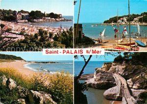 AK / Ansichtskarte Saint Palais sur Mer La plage un coin de plage du Platin Pont de la Corniche Kat. Saint Palais sur Mer