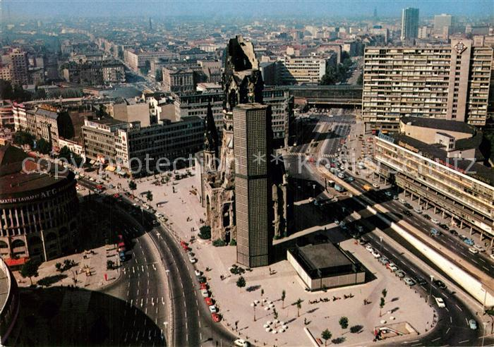 AK / Ansichtskarte Berlin Blick vom Europa Center mit Kaiser Wilhelm Gedaechtniskirche Kat. Berlin