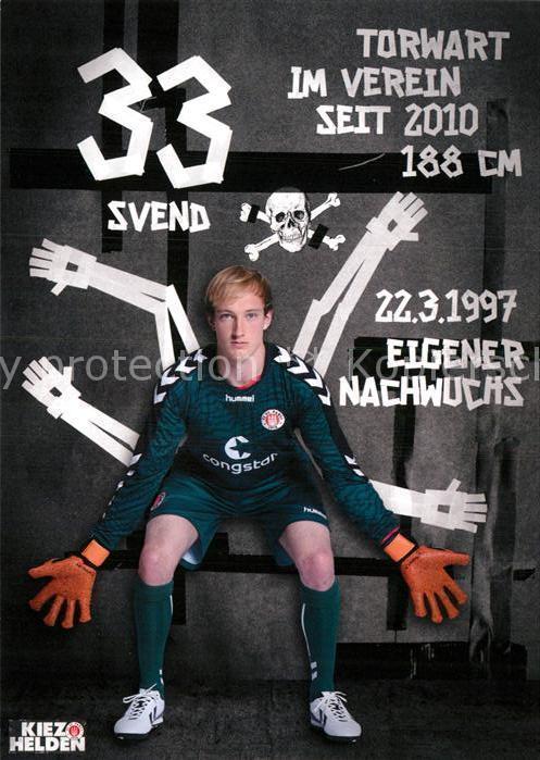 AK / Ansichtskarte Fussball FC St. Pauli Svend Brodersen Autogramm  Kat. Sport