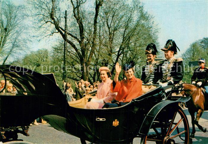 AK / Ansichtskarte Adel England Queen Elizabeth Queen Margrethe of Denmark Copenhagen Kat. Koenigshaeuser