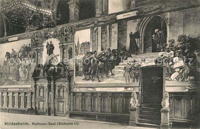 AK / Ansichtskarte Hildesheim Rathaus Saal Fresken  Kat. Hildesheim