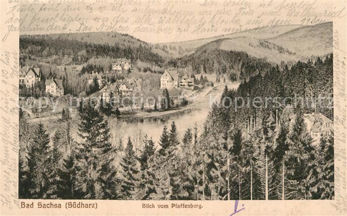 AK / Ansichtskarte Bad Sachsa Harz Blick vom Pfaffenberg  Kat. Bad Sachsa