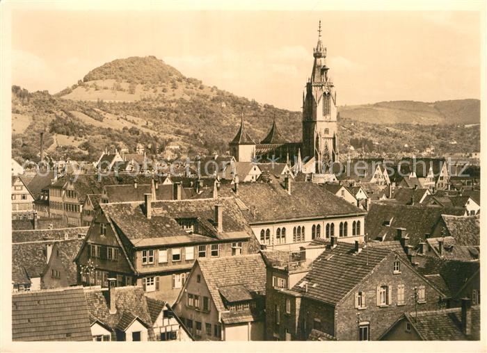 AK / Ansichtskarte Reutlingen Tuebingen Marienkirche und Achalm