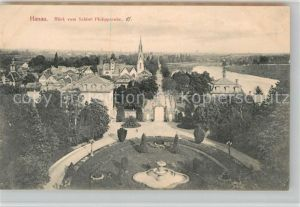 AK / Ansichtskarte Hanau Main Blick vom Schloss Phillippsruhe Kat. Hanau