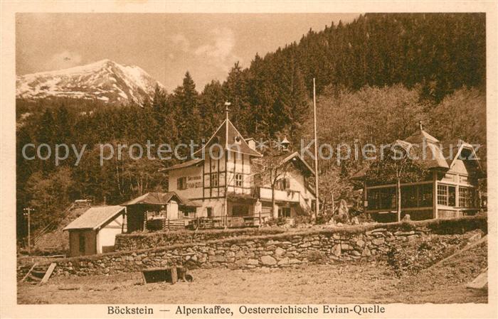 AK / Ansichtskarte Boeckstein Alpenkaffee oesterreichische Evian Quelle Kat. Bad Gastein