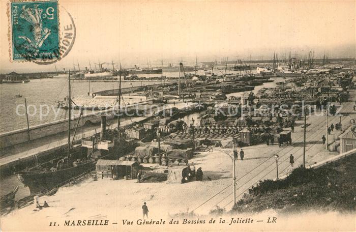 AK / Ansichtskarte Marseille Bouches du Rhone Vue generale des Bassins de la Joliette