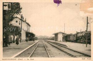 AK / Ansichtskarte Saint Florent sur Cher La Gare Bahnhof Kat. Saint Florent sur Cher