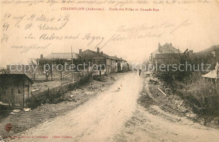 AK / Ansichtskarte Charbogne Ecole des Filles et Grande Rue Kat. Charbogne