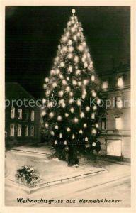 AK / Ansichtskarte Wermelskirchen Christbaum Weihnachtskarte Kat. Wermelskirchen