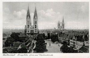 AK / Ansichtskarte Halberstadt Domplatz Dom Martinikirche Kat. Halberstadt