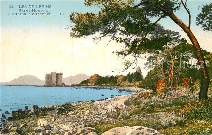 AK / Ansichtskarte Iles de Lerins Saint Honorat L`Ancien Monastere Kat. Cannes Alpes Maritimes