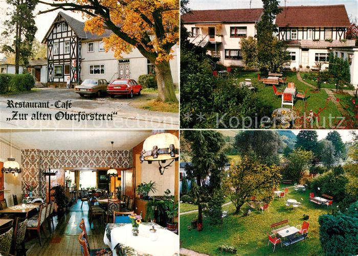 AK / Ansichtskarte Rengshausen Knuellwald Restaurant Cafe Pension Zur alten Oberfoersterei Kat. Knuellwald