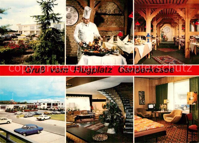 Ak Ansichtskarte Ganderkesee Hotel Restaurant Airfield Kat Ganderkesee