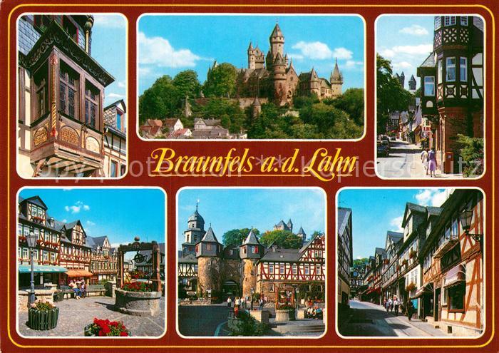 AK / Ansichtskarte Braunfels Burg Stadttor Altstadt Fussgaengerzone  Kat. Braunfels