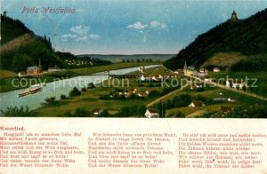 AK / Ansichtskarte Porta Westfalica Weserlied Kat. Porta Westfalica