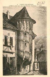 AK / Ansichtskarte Chartres Eure et Loir Escalier dit de la Reine Berthe Vieux Chartres Kat. Chartres