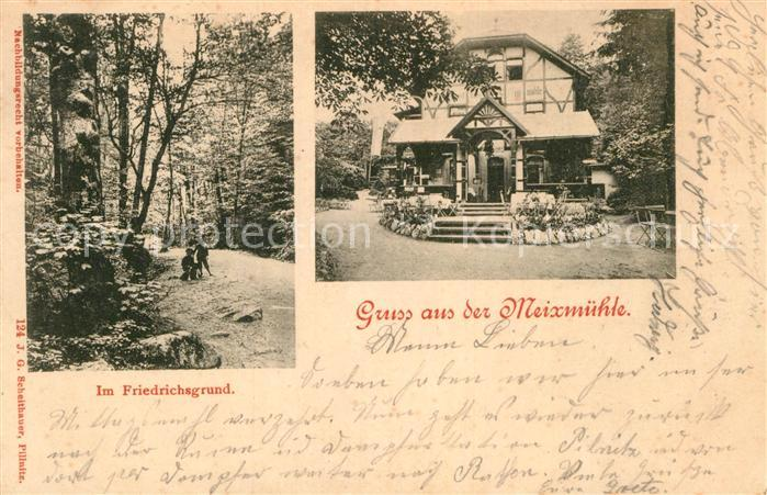 AK / Ansichtskarte Pillnitz Meixmuehle im Friedrichsgrund Kat. Dresden