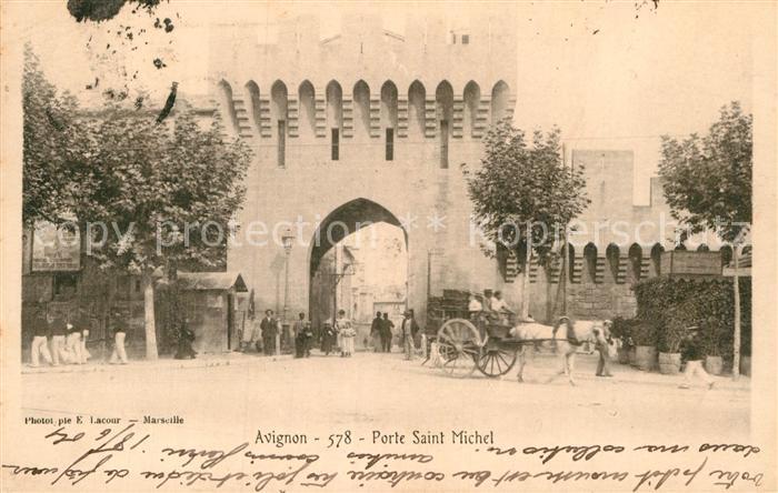 Ak avignon boulevard saint michel nr 6358729 oldthing ansichtskarten europa belgien - Porte saint dominique avignon ...