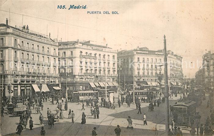AK / Ansichtskarte Madrid Spain Puerta del Sol Kat. Madrid