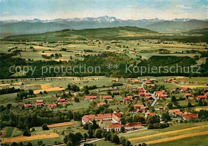 AK / Ansichtskarte Wessobrunn Jugendkurheim Kloster Wessobrunn Fliegeraufnahme Kat. Wessobrunn