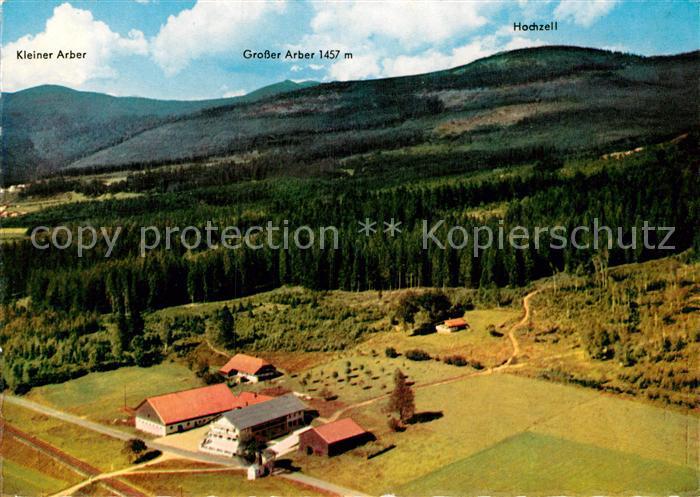 AK / Ansichtskarte Bodenmais Gasthof Pension Boehmhof Kl und Gr Arber Hochzell Fliegeraufnahme Kat. Bodenmais