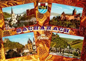 AK / Ansichtskarte Bacharach Rhein Burg Schloss Kirche Teilansicht  Kat. Bacharach