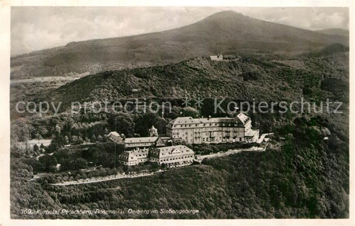 AK / Ansichtskarte Siebengebirge Fliegeraufnahme Kurhotel Petersberg Kat. Koenigswinter