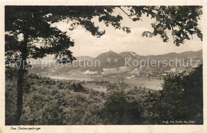 AK / Ansichtskarte Siebengebirge Panorama  Kat. Koenigswinter