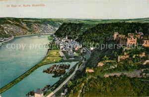 AK / Ansichtskarte St Goar Panorama mit Ruine Rheinfels Kat. Sankt Goar