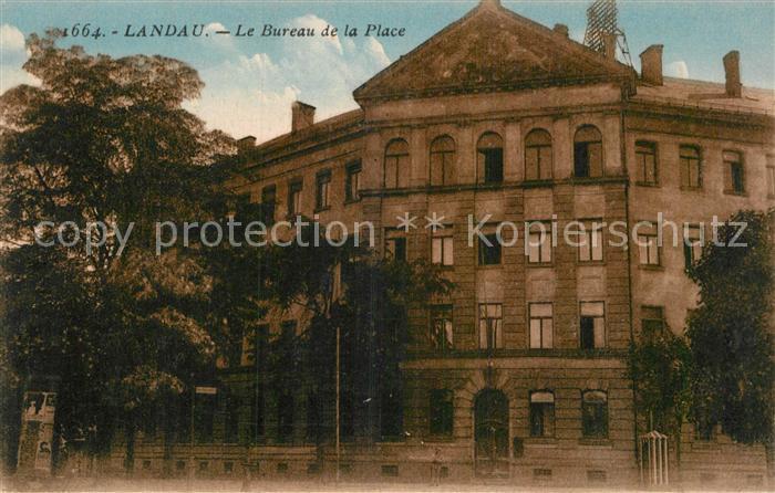 AK / Ansichtskarte Landau Pfalz Le Bureau de la Place Kat. Landau in der Pfalz