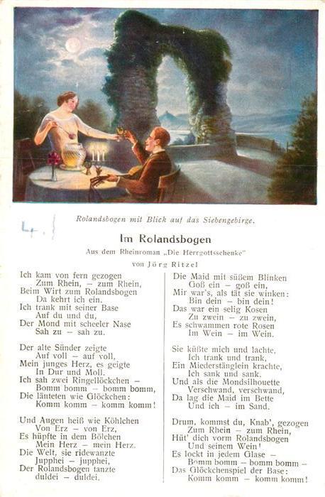 AK / Ansichtskarte Siebengebirge Rolandsbogen Kat. Koenigswinter