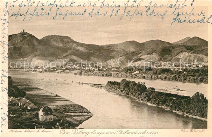 AK / Ansichtskarte Siebengebirge Blick vom Rolandseck Kat. Koenigswinter