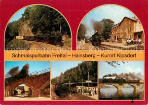 AK / Ansichtskarte Lokomotive Schmalspurbahn Freital Hainsberg Kipsdorf  Kat. Eisenbahn