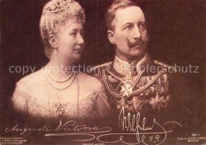 AK / Ansichtskarte Wilhelm II Kaiserin Auguste Victoria  Kat. Persoenlichkeiten