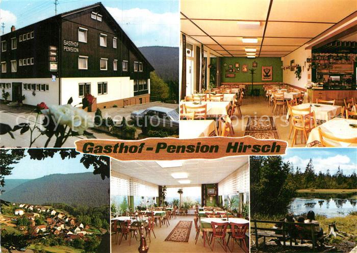 AK / Ansichtskarte Sprollenhaus Gasthof Pension Hirsch Gastraeume Panorama Weiher Kat. Bad Wildbad