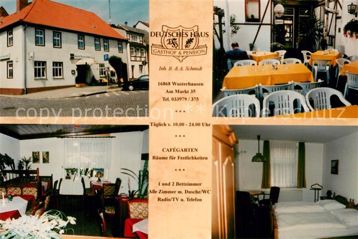 AK Ansichtskarte Wusterhausen Dosse Gasthof Pension