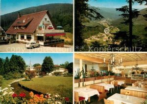 AK / Ansichtskarte Bad Herrenalb Restaurant Pension Cafe Gaistal Panorama Park Gastraum Kat. Bad Herrenalb