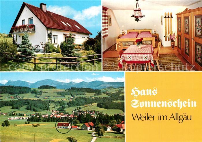 AK / Ansichtskarte Weiler Allgaeu Haus Sonnenschein Zimmer Panorama Kat. Fischen i.Allgaeu