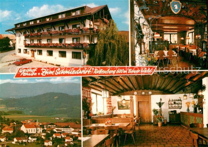 AK / Ansichtskarte Rattenberg Niederbayern Gasthof Pension Zum Schmiedwirt Gastraeume Panorama Kat. Rattenberg