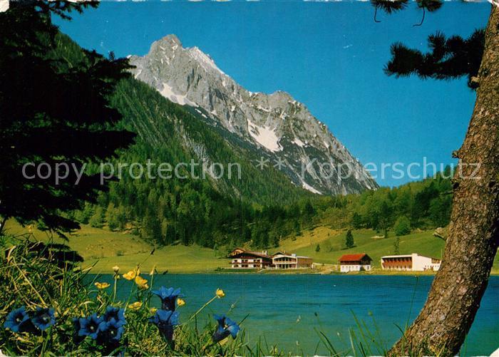AK / Ansichtskarte Lautersee Mittenwald Wettersteinspitze Kat. Mittenwald